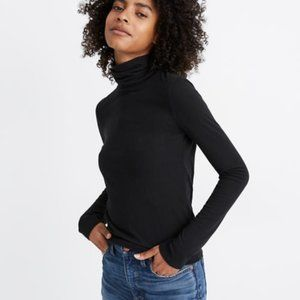 Madewell Ribbed Turtleneck Top Black XL